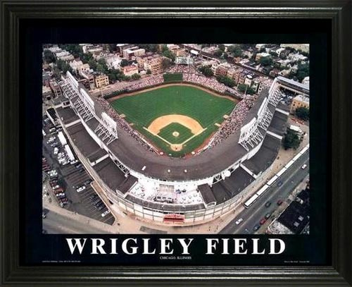 MLB - Chicago Cubs - Wrigley Field Aerial - Lg - Framed Picture