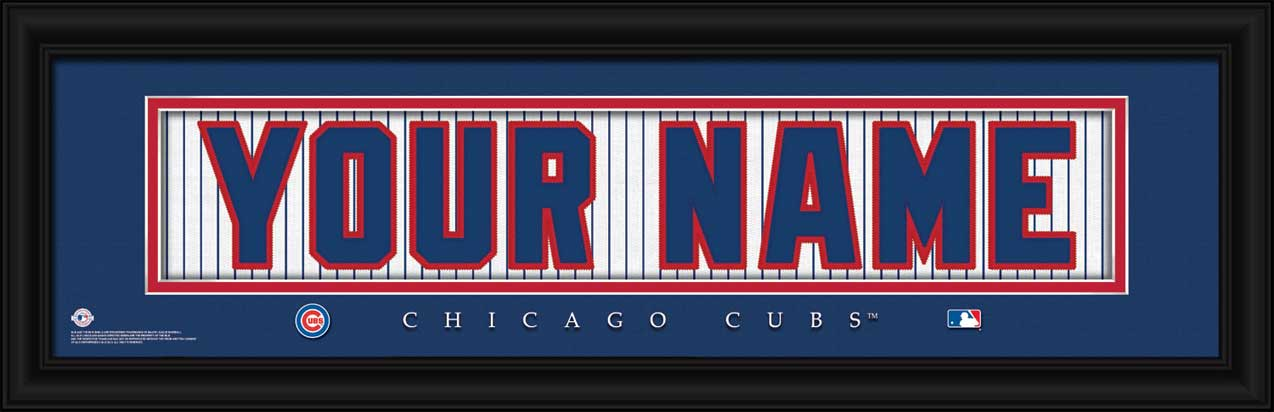 MLB - Chicago Cubs - Personalized Jersey Nameplate - Framed Picture