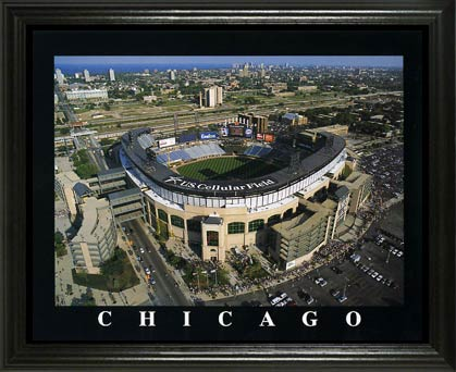 MLB - Chicago White Sox - US Cellular Field Aerial - Lg - Framed Picture