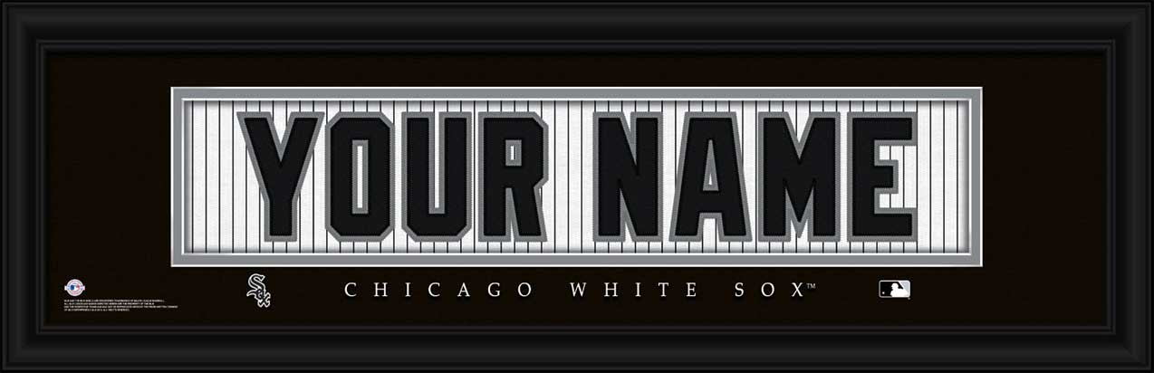 MLB - Chicago White Sox - Personalized Jersey Nameplate - Framed Picture