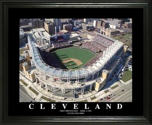 MLB - Cleveland Indians - Jacobs Field Aerial - Lg - Framed Picture