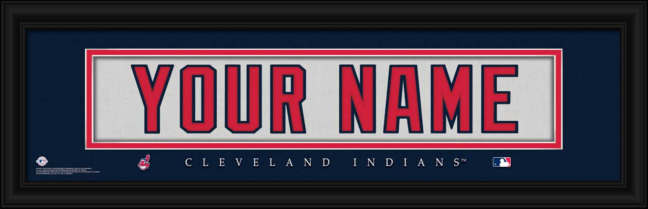 MLB - Cleveland Indians - Personalized Jersey Nameplate - Framed Picture
