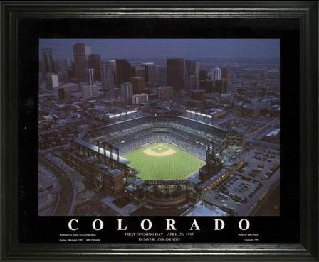 MLB - Colorado Rockies - Coors Field Aerial - Lg - Framed Picture