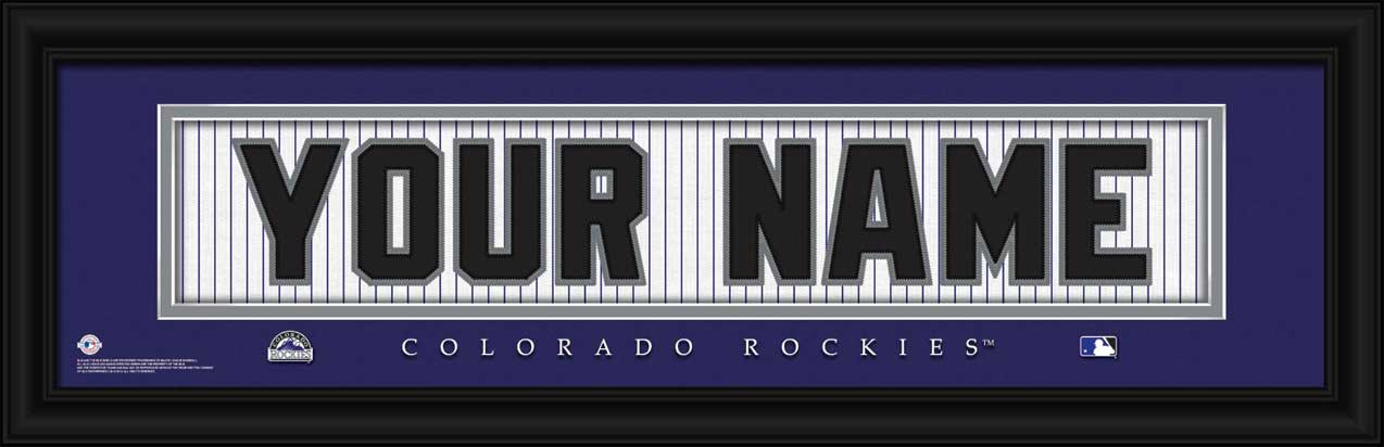 MLB - Colorado Rockies - Personalized Jersey Nameplate - Framed Picture