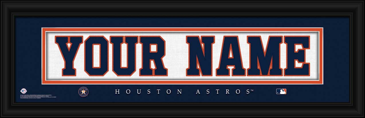 MLB - Houston Astros - Personalized Jersey Nameplate - Framed Picture