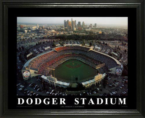 MLB - Los Angeles Dodgers - Dodger Stadium Aerial - Lg - Framed Picture