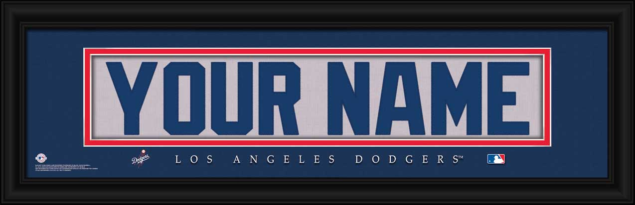 MLB - Los Angeles Dodgers - Personalized Jersey Nameplate - Framed Picture