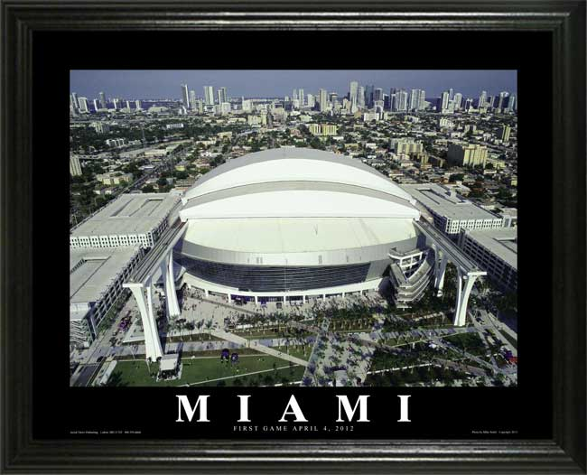 MLB - Miami Marlins - Marlins Park - Lg - Framed Picture
