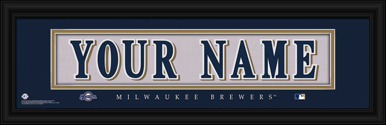 MLB - Milwaukee Brewers - Personalized Jersey Nameplate - Framed Picture