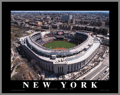MLB - New York Yankees - New Yankee Stadium Aerial - Med - Plaque Mounted & Laminated Print