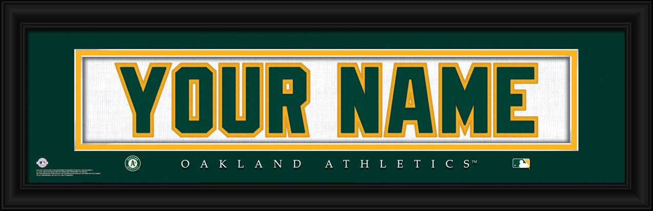 MLB - Oakland Athletics - Personalized Jersey Nameplate - Framed Picture