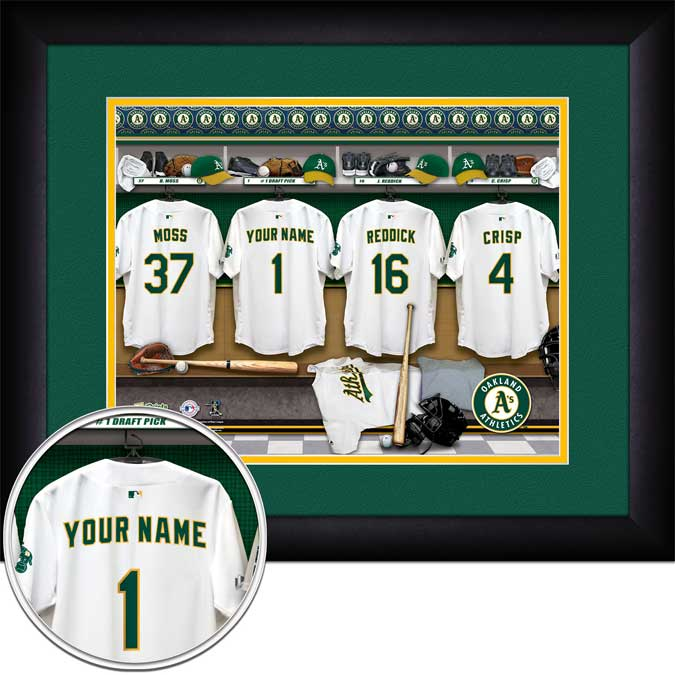 MLB - Oakland Athletics - Personalized Locker Room - Framed Picture