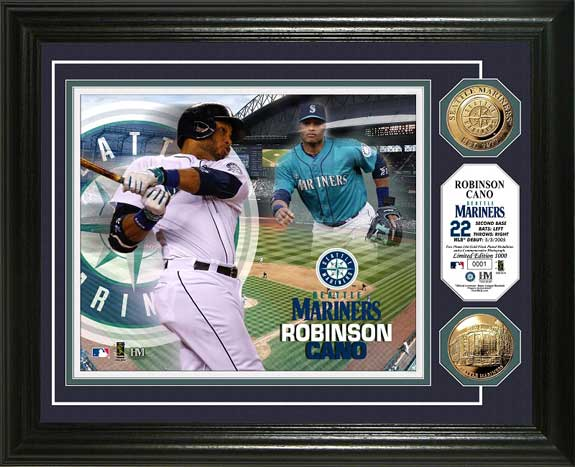 MLB - Seattle Mariners - Robinson Cano - Gold Coins - Framed Picture