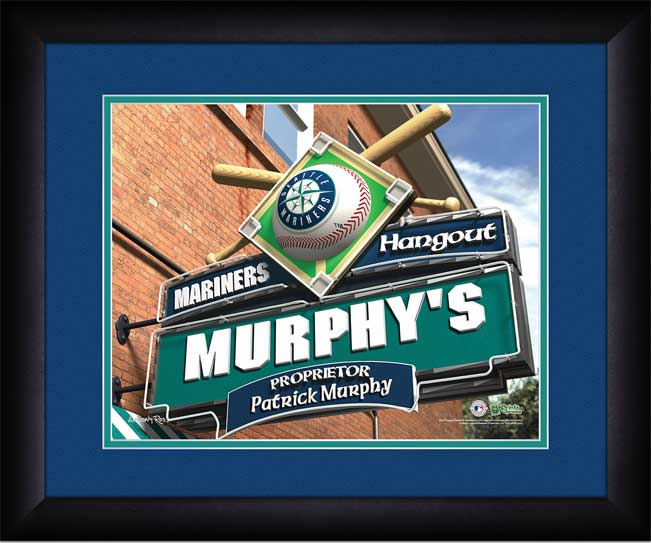 MLB - Seattle Mariners - Personalized Hangout Sign - Framed Picture