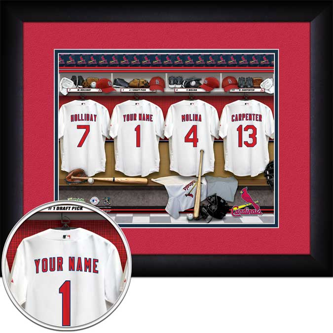 MLB - St. Louis Cardinals - Personalized Locker Room - Framed Picture