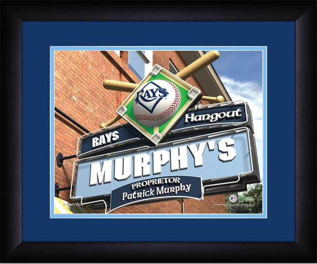 MLB - Tampa Bay Rays - Personalized Hangout Sign - Framed Picture