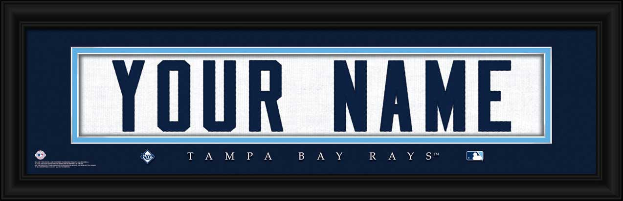 MLB - Tampa Bay Rays - Personalized Jersey Nameplate - Framed Picture