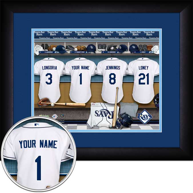 MLB - Tampa Bay Rays - Personalized Locker Room - Framed Picture