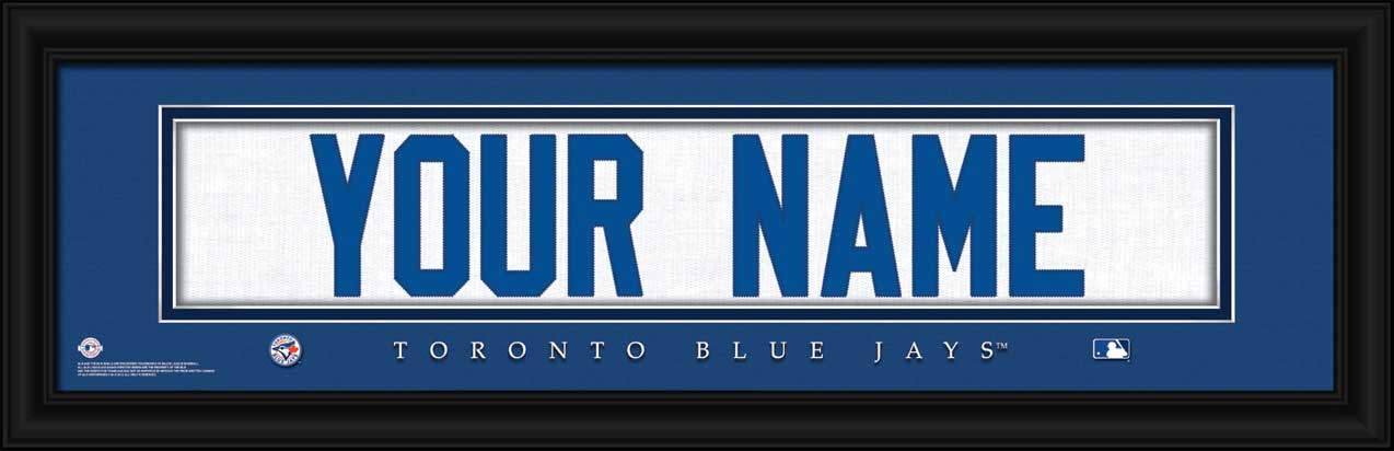 MLB - Toronto Blue Jays - Personalized Jersey Nameplate - Framed Picture