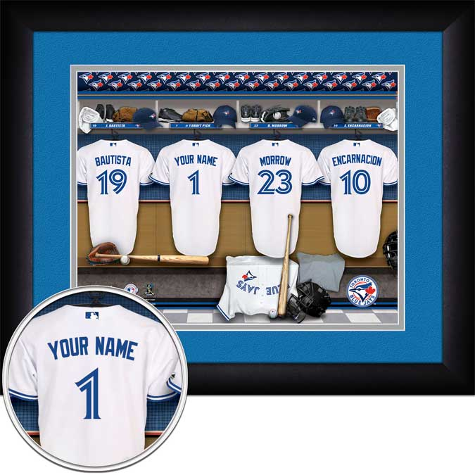 MLB - Toronto Blue Jays - Personalized Locker Room - Framed Picture