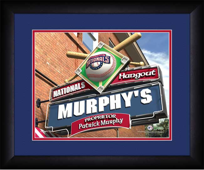 MLB - Washington Nationals - Personalized Hangout Sign - Framed Picture