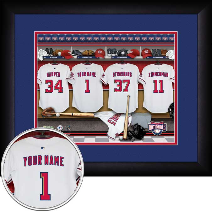 MLB - Washington Nationals - Personalized Locker Room - Framed Picture
