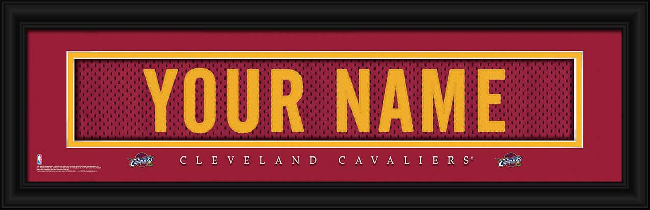 NBA - Cleveland Cavaliers - Personalized Jersey Nameplate - Framed Picture