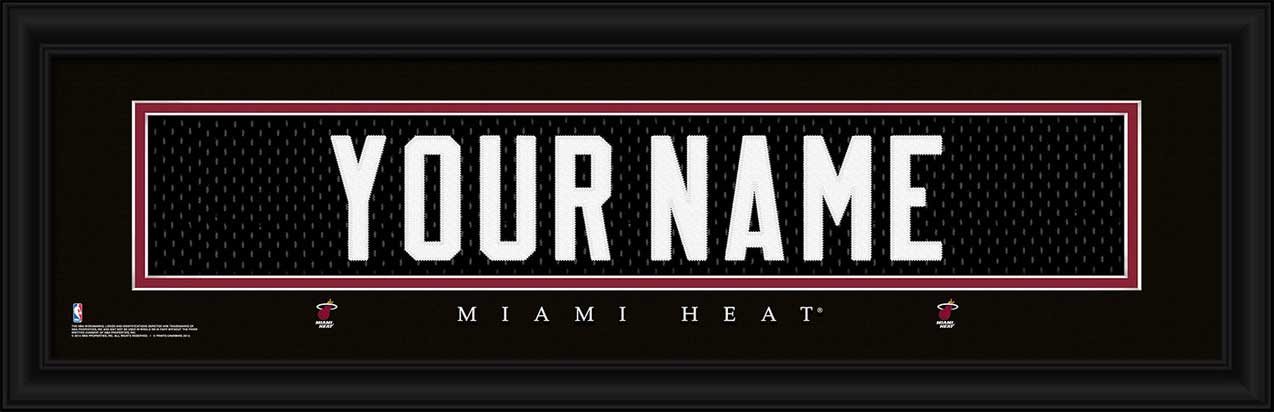 NBA - Miami Heat - Personalized Jersey Nameplate - Framed Picture
