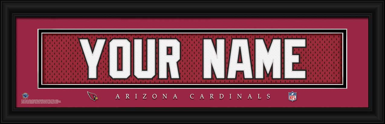 NFL - Arizona Cardinals - Personalized Jersey Nameplate - Framed Picture