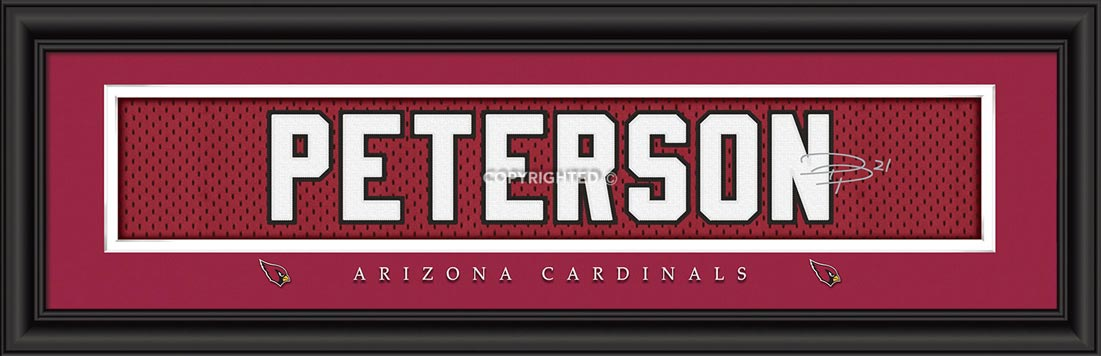 NFL - Arizona Cardinals - Signature Jersey Nameplate - Patrick Peterson - Framed Picture