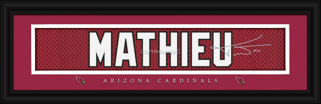 b80c6ab16 Details   Buy · NFL - Arizona Cardinals - Signature Jersey Nameplate -  Tyrone Mathieu - Framed Picture