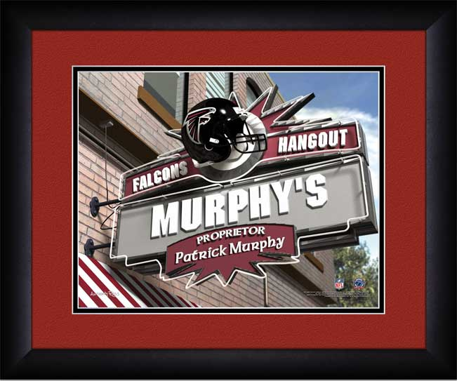 NFL - Atlanta Falcons - Personalized Hangout Sign - Framed Picture