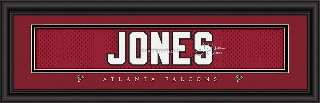 NFL - Atlanta Falcons - Signature Jersey Nameplate - Julio Jones - Framed Picture