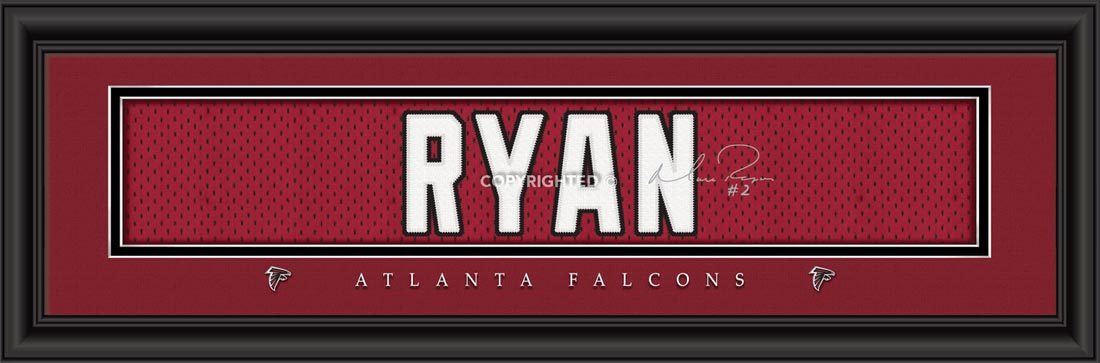 NFL - Atlanta Falcons - Signature Jersey Nameplate - Matt Ryan - Framed Picture