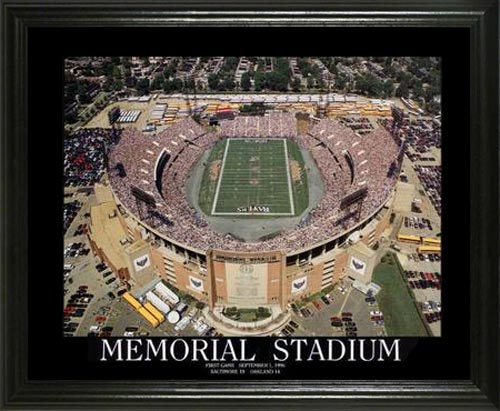 NFL - Baltimore Ravens - Memorial Stadium Aerial - Lg - Framed Picture