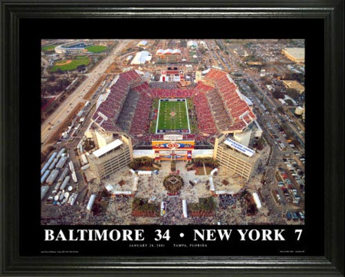 NFL - Baltimore Ravens - Superbowl 35 XXXV Aerial - Lg - Framed Picture