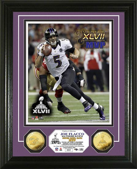 NFL - Baltimore Ravens - Super Bowl 47 XLVII - MVP Flacco - Framed Picture