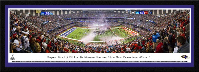 NFL - Baltimore Ravens - Super Bowl 47 XLVII - Framed Picture