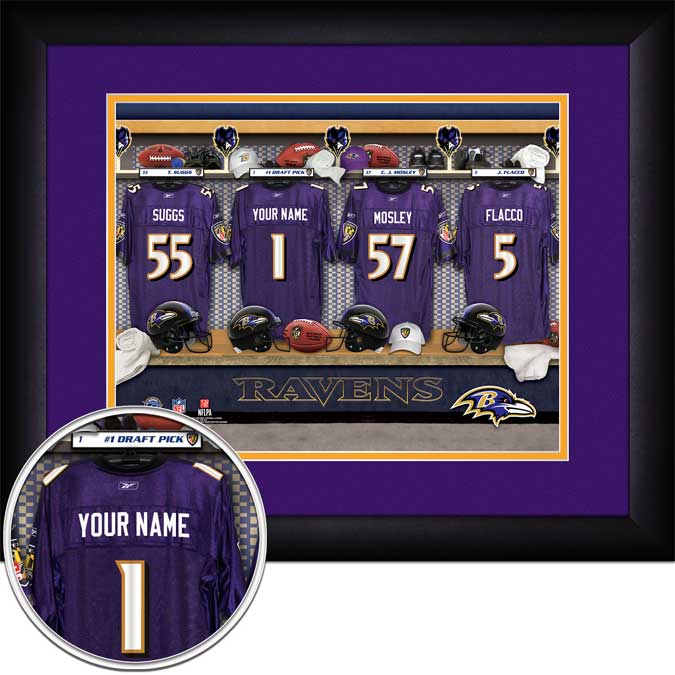 NFL - Baltimore Ravens - Personalized Locker Room - Framed Picture