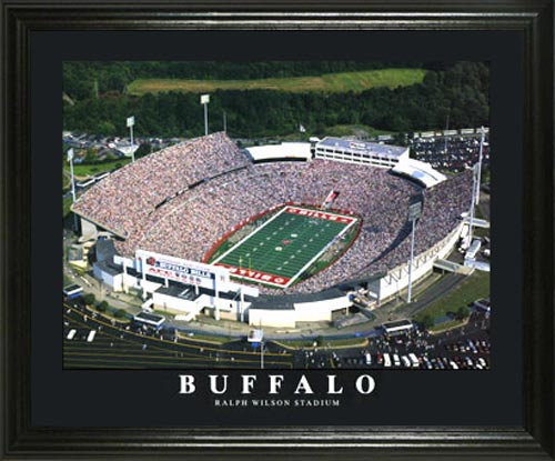 NFL - Buffalo Bills - Ralf Wilson Stadium Aerial - Lg - Framed Picture