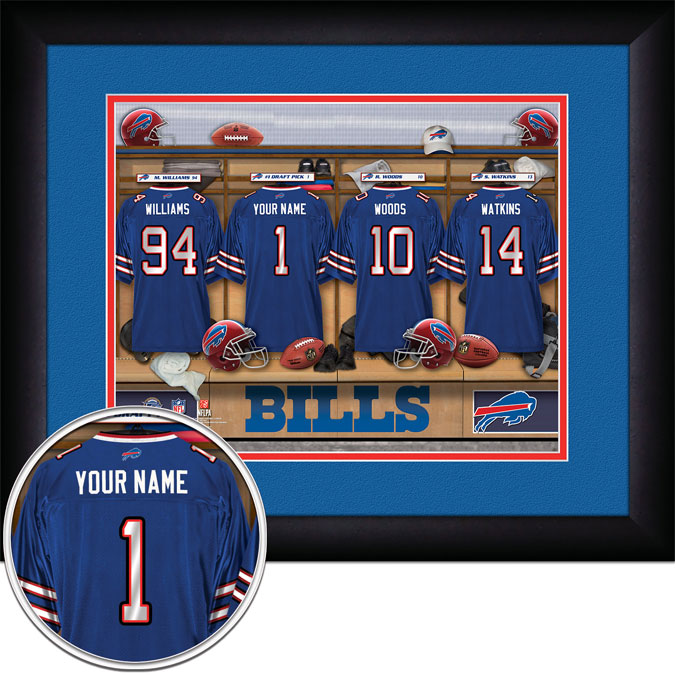 NFL - Buffalo Bills - Personalized Locker Room - Framed Picture