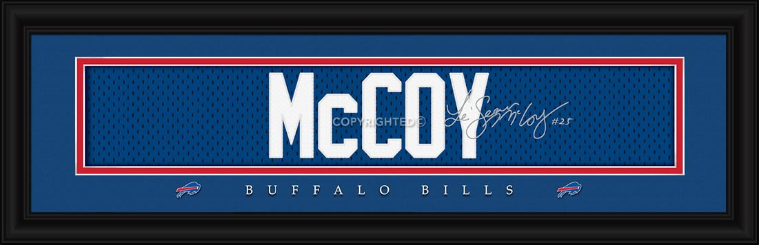 NFL - Buffalo Bills - Signature Jersey Nameplate - LeSean McCoy - Framed Picture