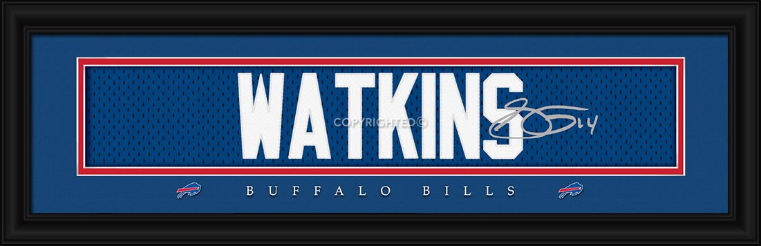 NFL - Buffalo Bills - Signature Jersey Nameplate - Sammy Watkins - Framed Picture