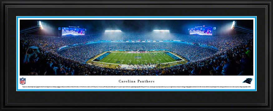 NFL - Carolina Panthers - Bank of America Stadium - Night - Framed Picture