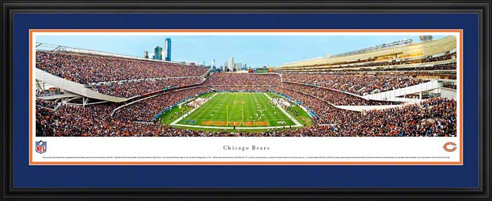 NFL - Chicago Bears - Soldier Field - End Zone - Framed Picture
