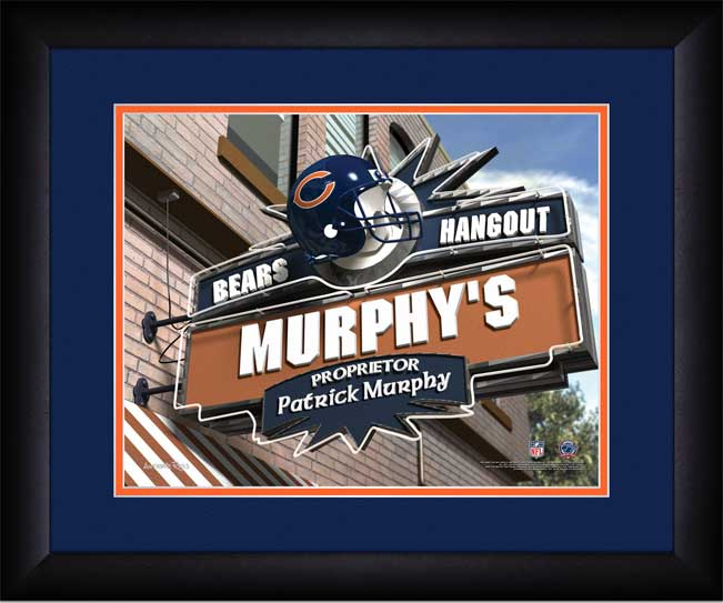 NFL - Chicago Bears - Personalized Hangout Sign - Framed Picture