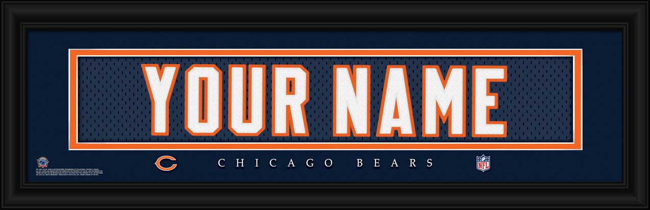 NFL - Chicago Bears - Personalized Jersey Nameplate - Framed Picture