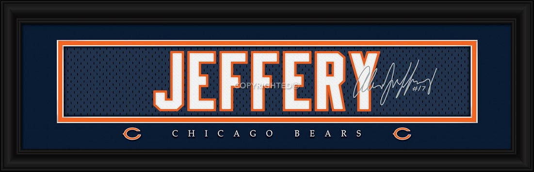 NFL - Chicago Bears - Signature Jersey Nameplate - Alshon Jeffery - Framed Picture