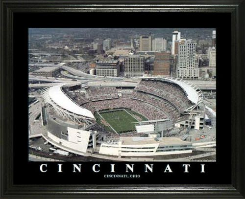 NFL - Cincinnati Bengals - Paul Brown Stadium Aerial - Lg - Framed Picture