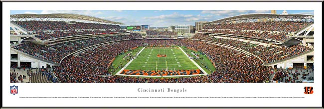 NFL - Cincinnati Bengals - Paul Brown Stadium - End Zone - Framed Picture